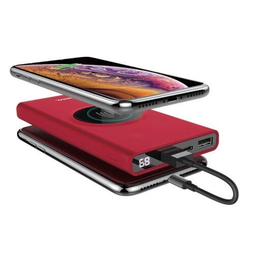 hoco j37 wisdom портативный аккумулятор 10000 mah с беспроводной зарядкой дисплей