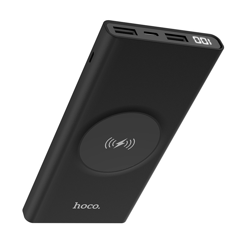 hoco j37 wisdom wireless charging mobile power bank 10000 mah indicator