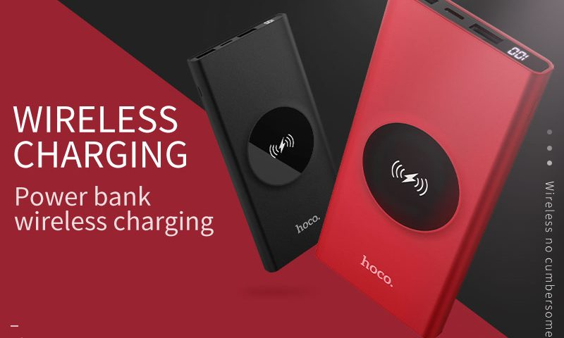 hoco j37 wisdom wireless charging mobile power bank 10000mah banner en