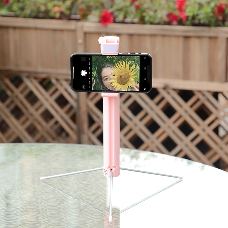 hoco k10a magnificent wireless selfie stick with backlight foldable