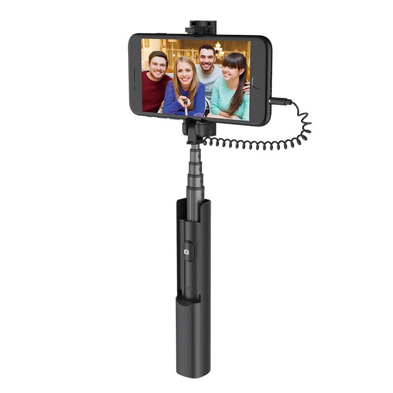hoco k9a mystical wire control aluminum alloy selfie stick phone