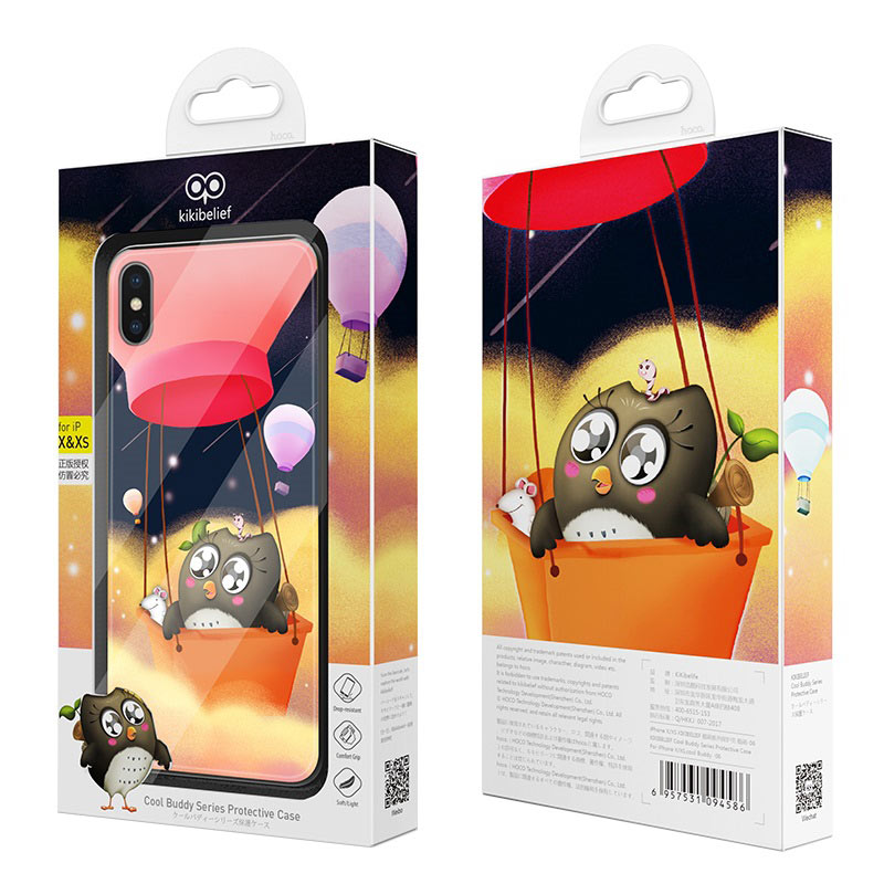 hoco kikibelief cool buddy series protective case for iphone x xs max package