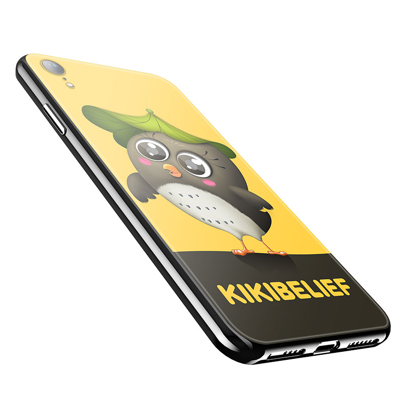 hoco kikibelief cool buddy series protective case for iphone xr 06 yellow
