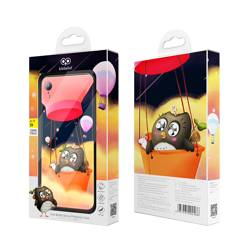 hoco kikibelief cool buddy series protective case for iphone xr package front rear