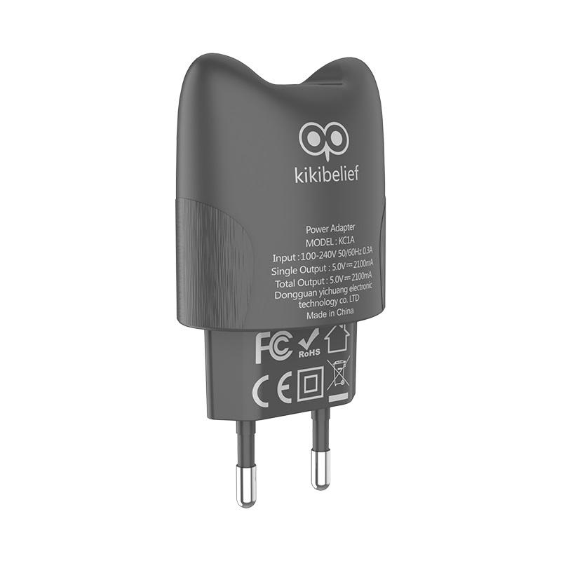 hoco kikibelief kc1a dual usb port charger eu kiki