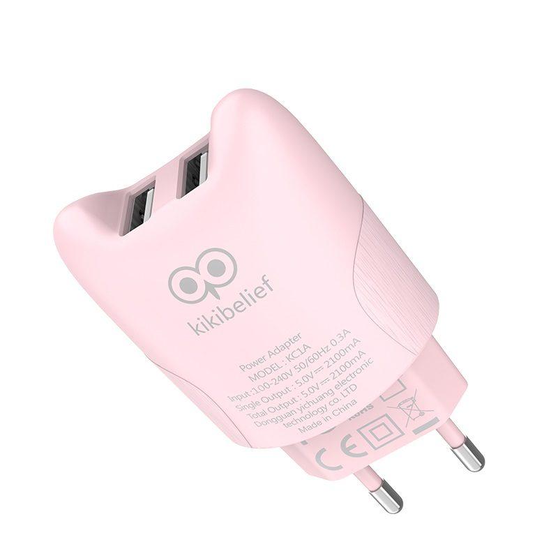 hoco kikibelief kc1a dual usb port charger eu overview