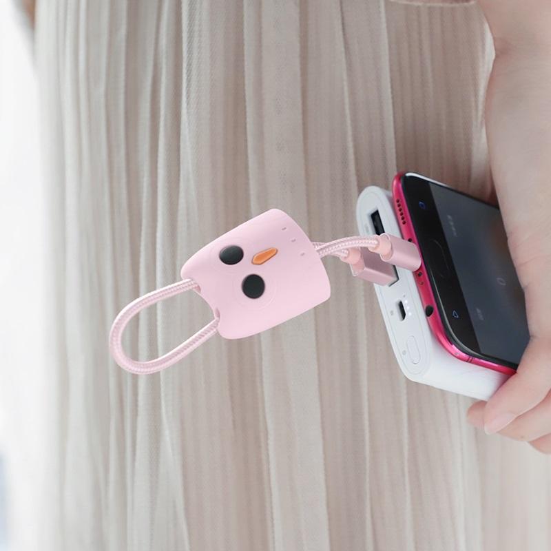 hoco kikibelief kx2 micro usb silicone case charging data cable portable