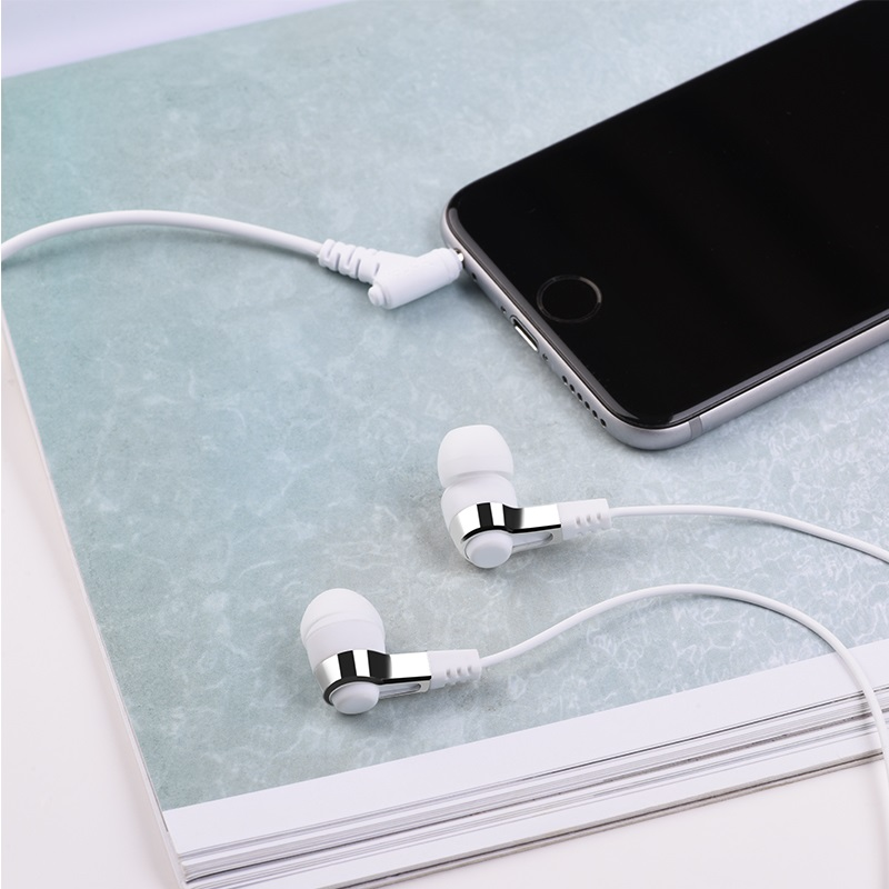 hoco m52 amazing rhyme universal wired earphones with mic phone