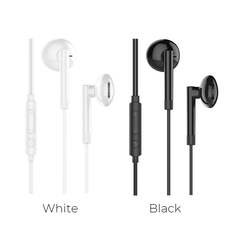 hoco m53 exquisite sound wired earphones with mic colors