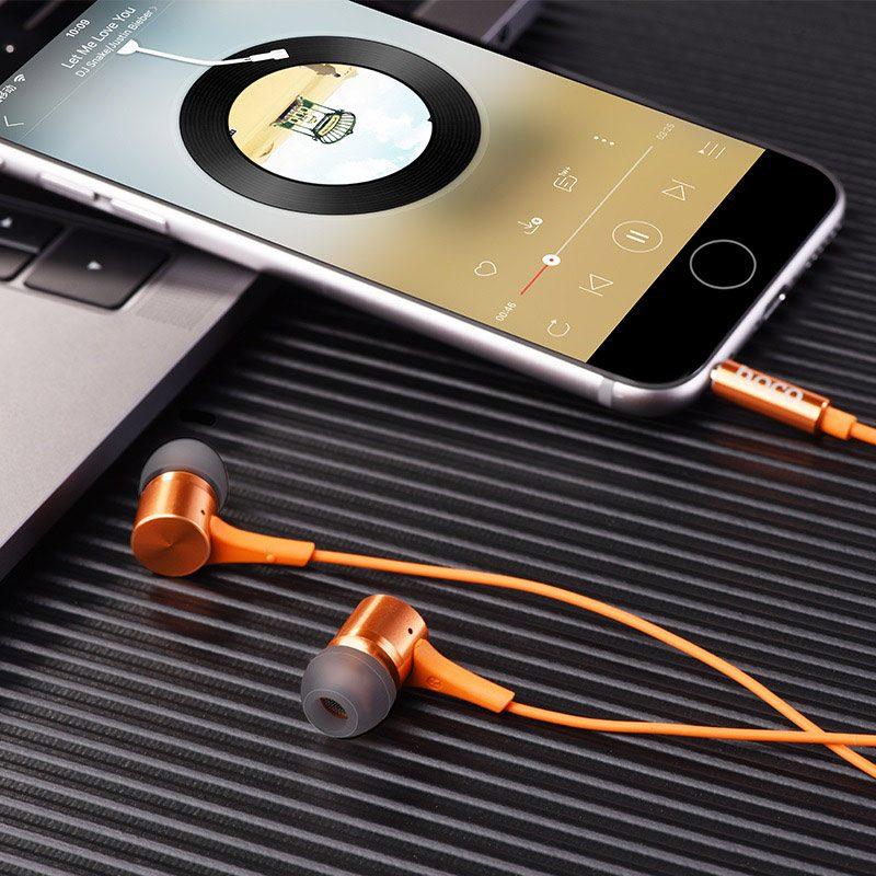 hoco m54 pure music проводные наушники с микрофоном музыка