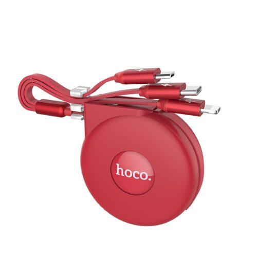 hoco u50 3 в 1 складной зарядный кабель коннекторы