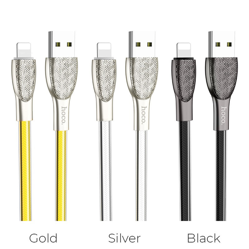 hoco u52 bright charging data cable for lightning colors