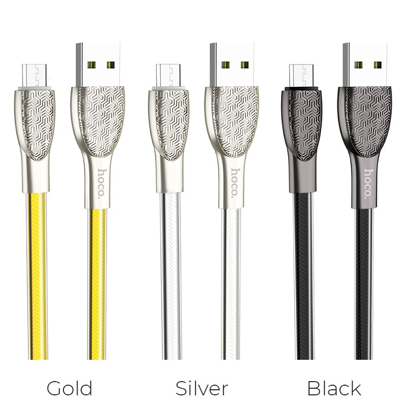 hoco u52 bright charging data cable for micro usb colors
