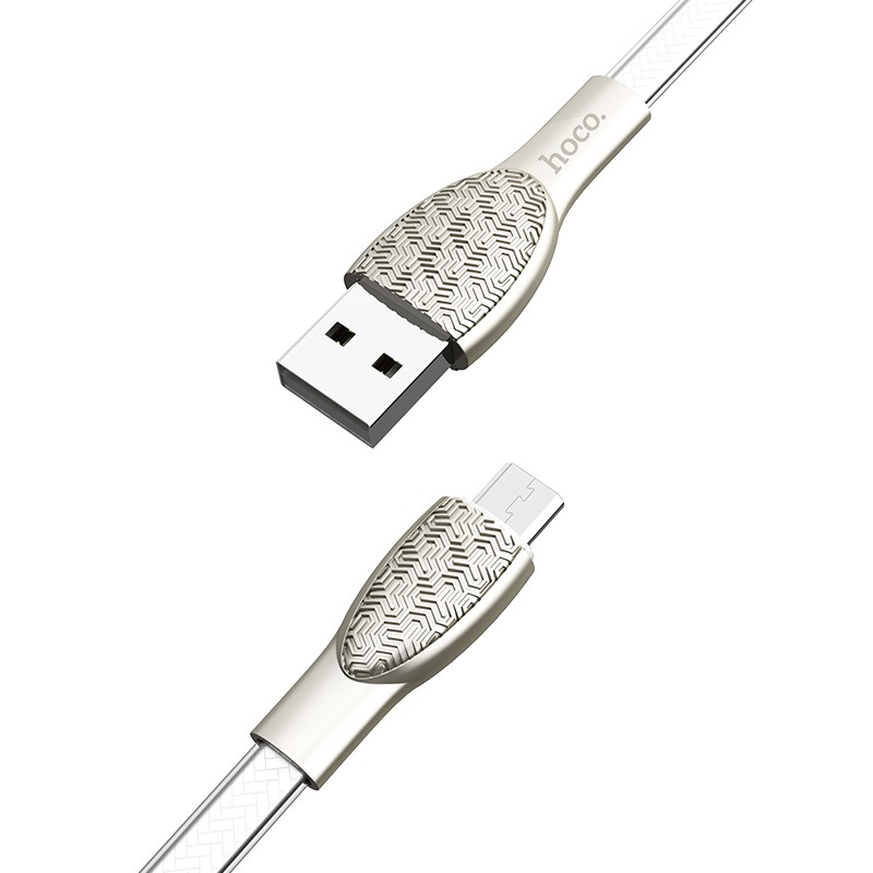 hoco u52 bright charging data cable for micro usb joint