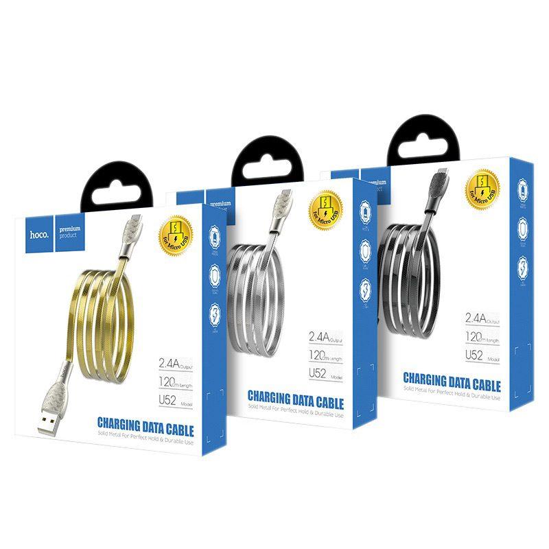 hoco u52 bright зарядный дата кабель для micro usb упаковка