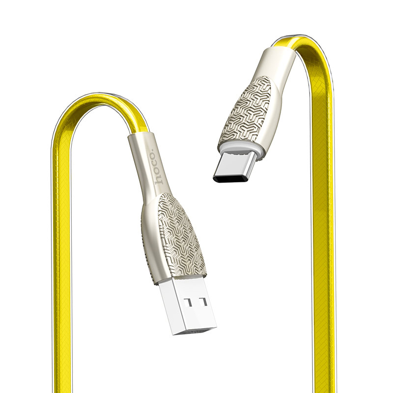hoco u52 bright charging data cable for type c flexible