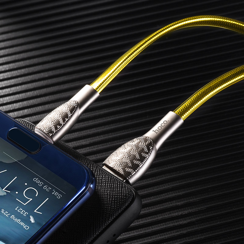 hoco u52 bright charging data cable for type c smartphone