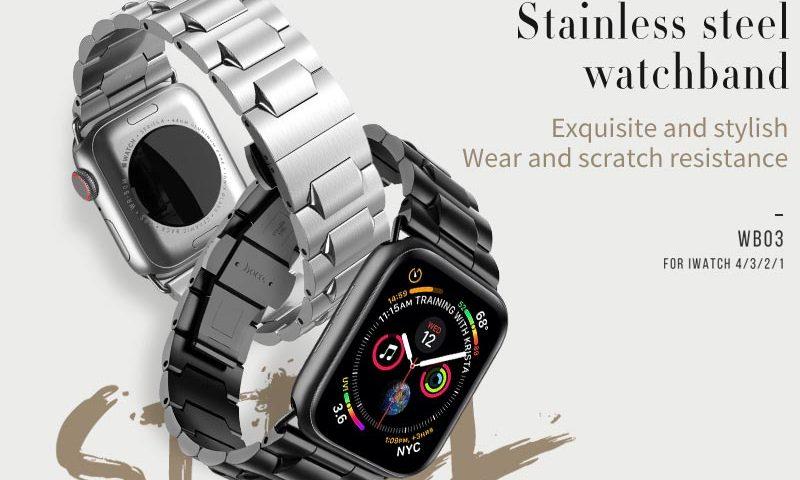hoco wb03 steel apple watch watchband banner en