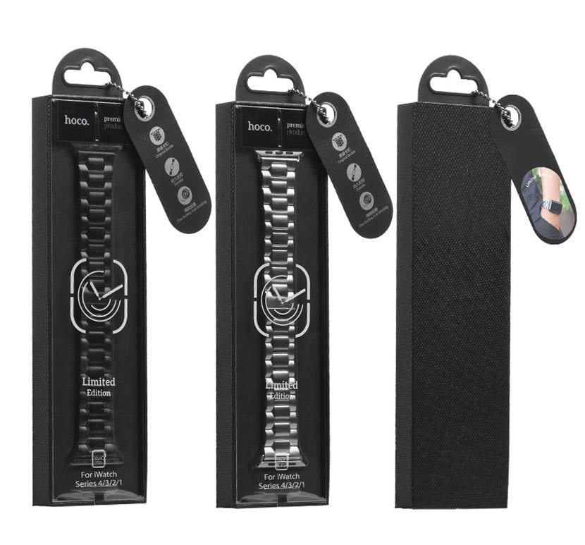 hoco wb03 steel apple watch watchband package en