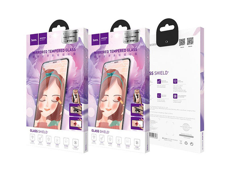 hoco a15 mirror tempered glass for iphone box en