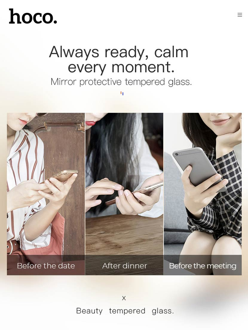 hoco a15 mirror tempered glass for iphone universal en