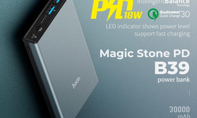 hoco b39 magic stone pd power bank banner en