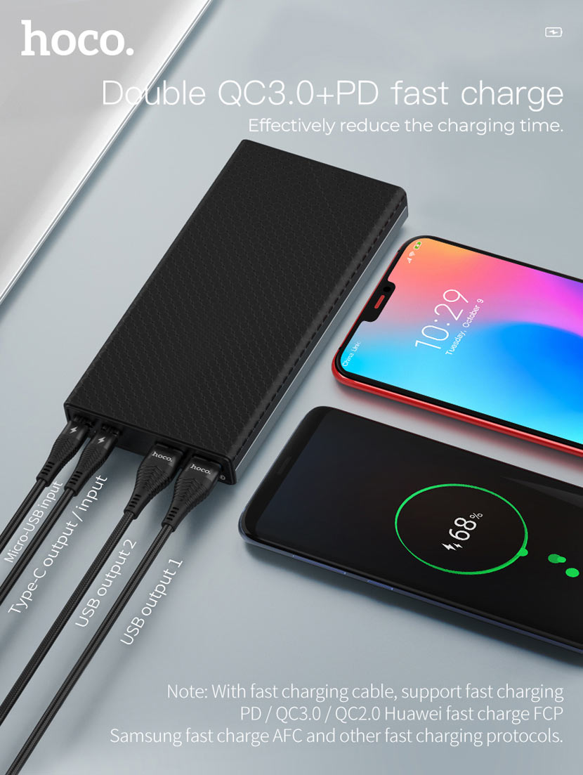 hoco b39 magic stone pd power bank charger en