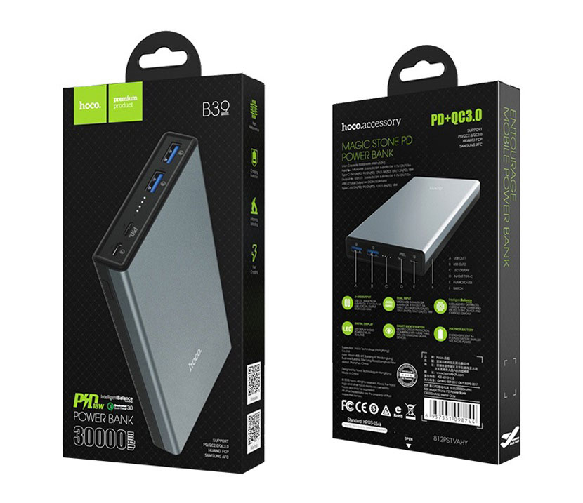hoco b39 magic stone pd power bank package