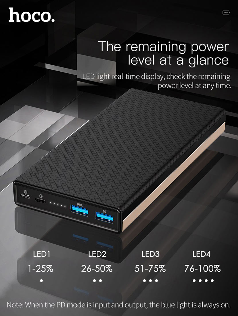 hoco b39 magic stone pd power bank usb en