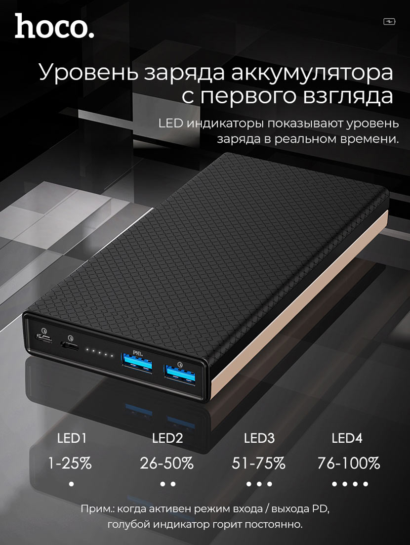 hoco b39 magic stone pd power bank usb ru