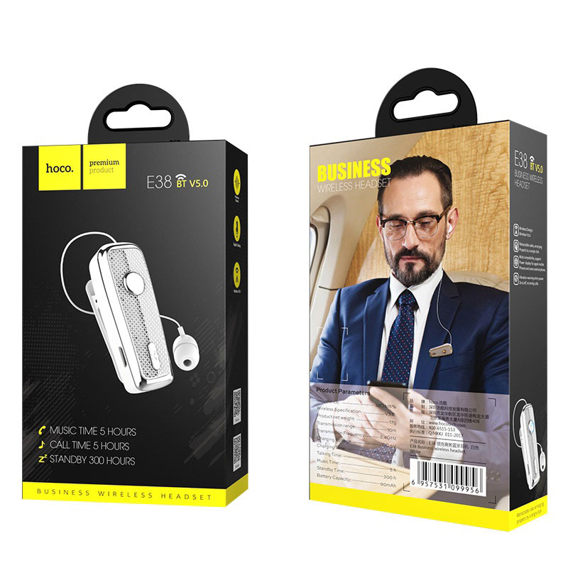 hoco e38 business wireless headset box