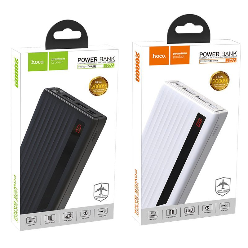 hoco j27a wide energy mobile power bank 20000 mah package