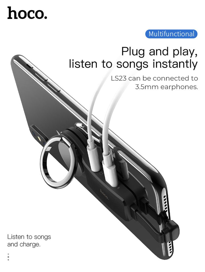 hoco ls22 ls23 audio converter holder en