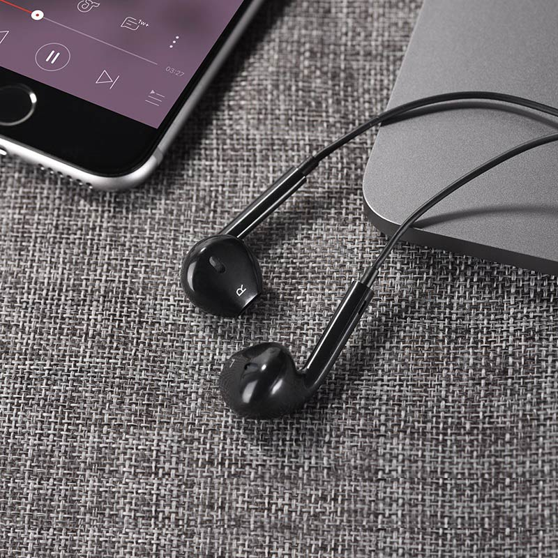 hoco m55 memory sound wire control earphones with mic overview