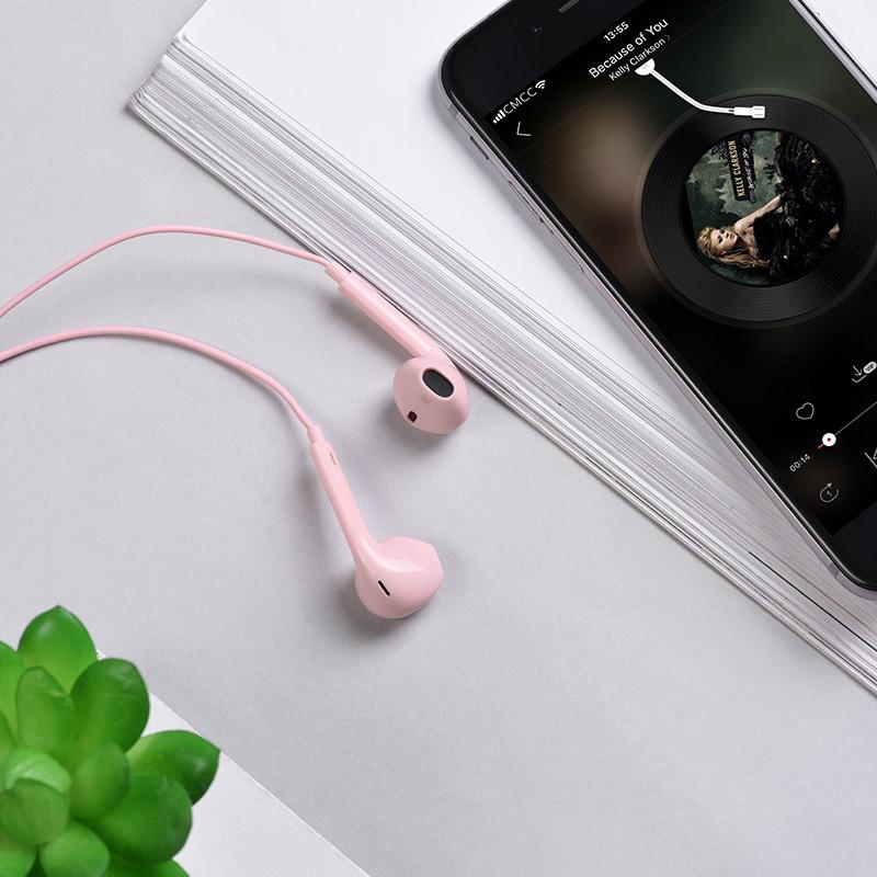 hoco m55 memory sound wire control earphones with mic phone