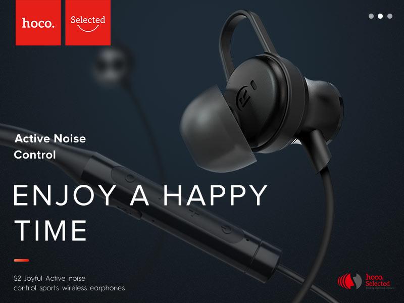 hoco selected s2 wireless earphones niose reduction banner en