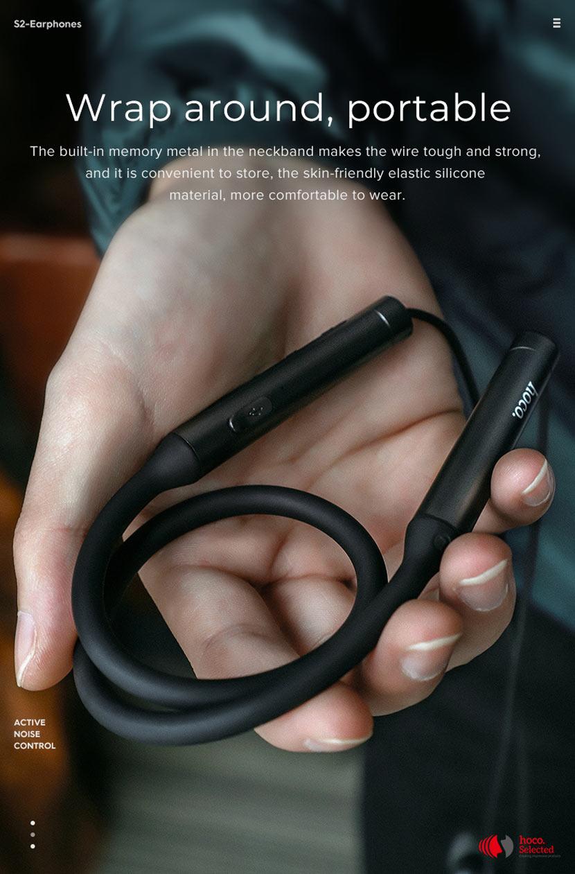 hoco selected s2 wireless earphones noise reduction flexible en