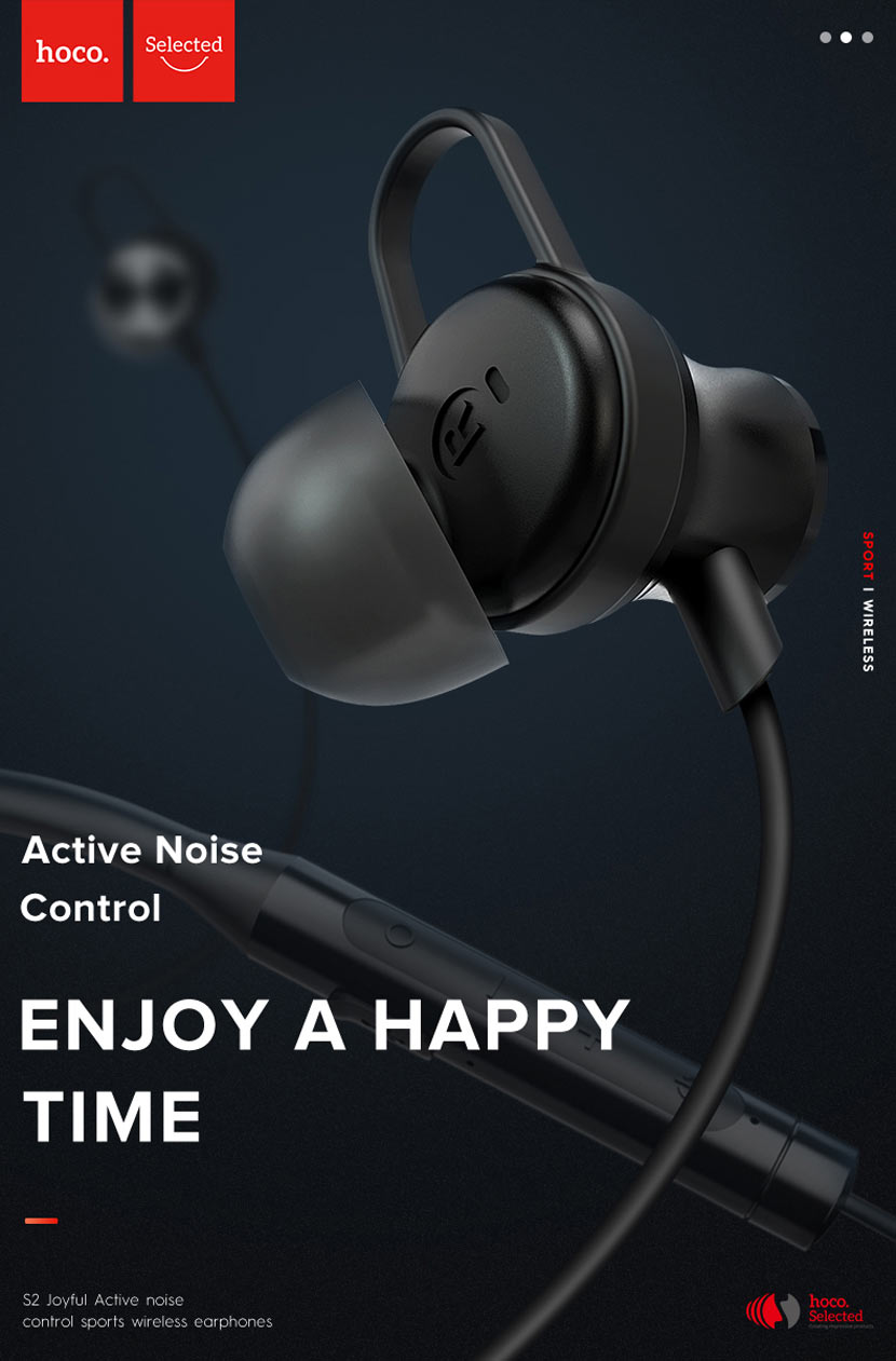 hoco selected s2 wireless earphones noise reduction main en