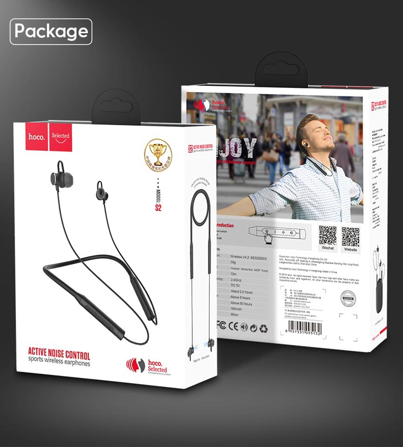 hoco selected s2 wireless earphones noise reduction package