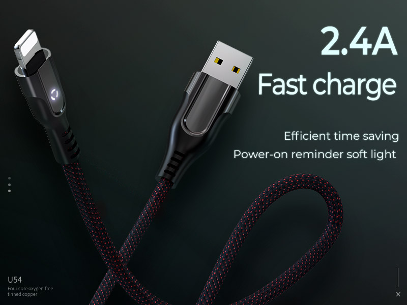hoco u54 advantage charging data cable for lightning banner en