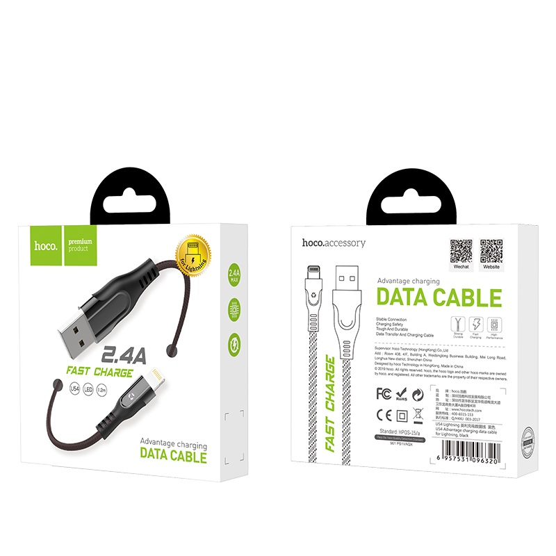 hoco u54 advantage charging data cable for lightning box