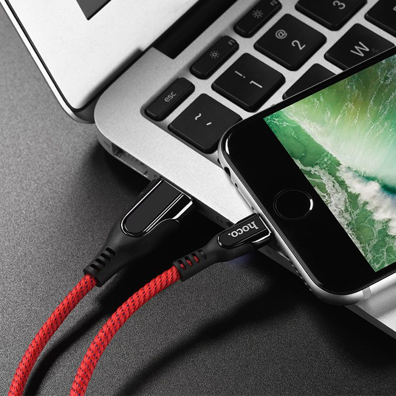 hoco u54 advantage charging data cable for lightning charger