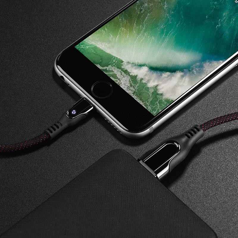 hoco u54 advantage charging data cable for lightning universal
