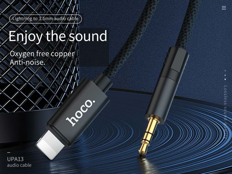 hoco upa13 lightning to 3.5mm audio cable banner en