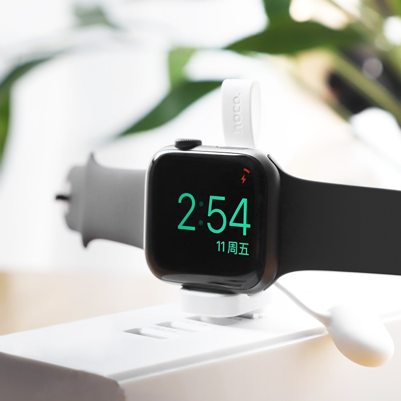 hoco cw19 nimble iwatch wireless charger charging