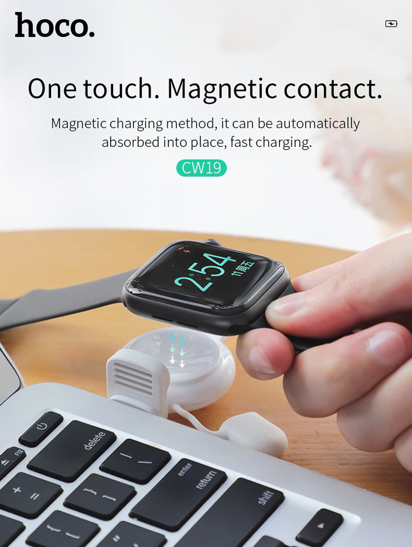 hoco cw19 nimble iwatch wireless charger magnetic en