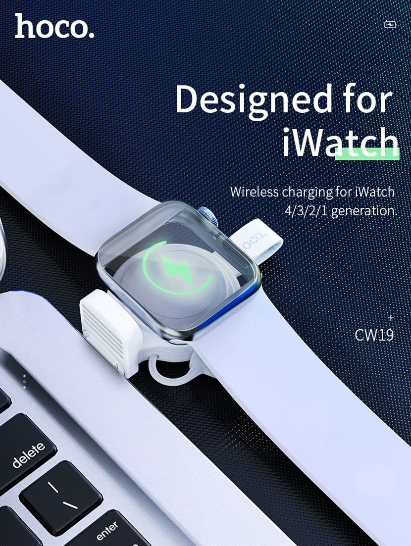 hoco cw19 nimble iwatch wireless charger main en