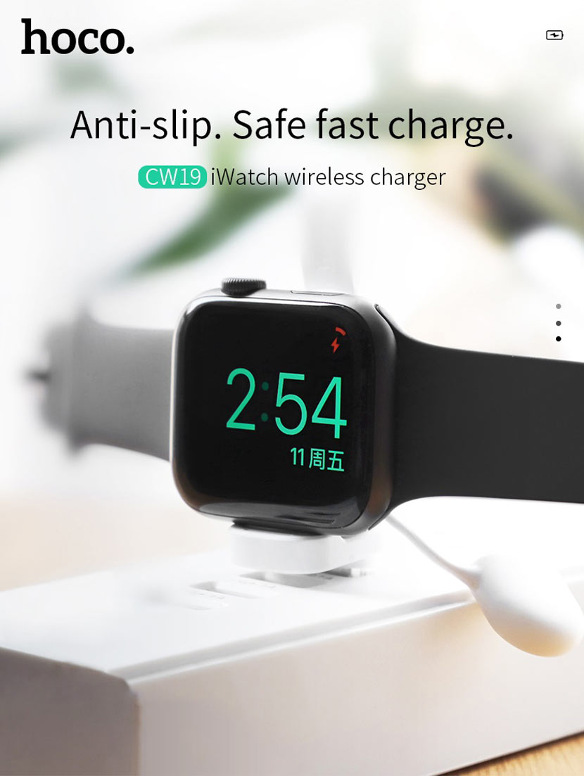 hoco cw19 nimble iwatch wireless charger mini en