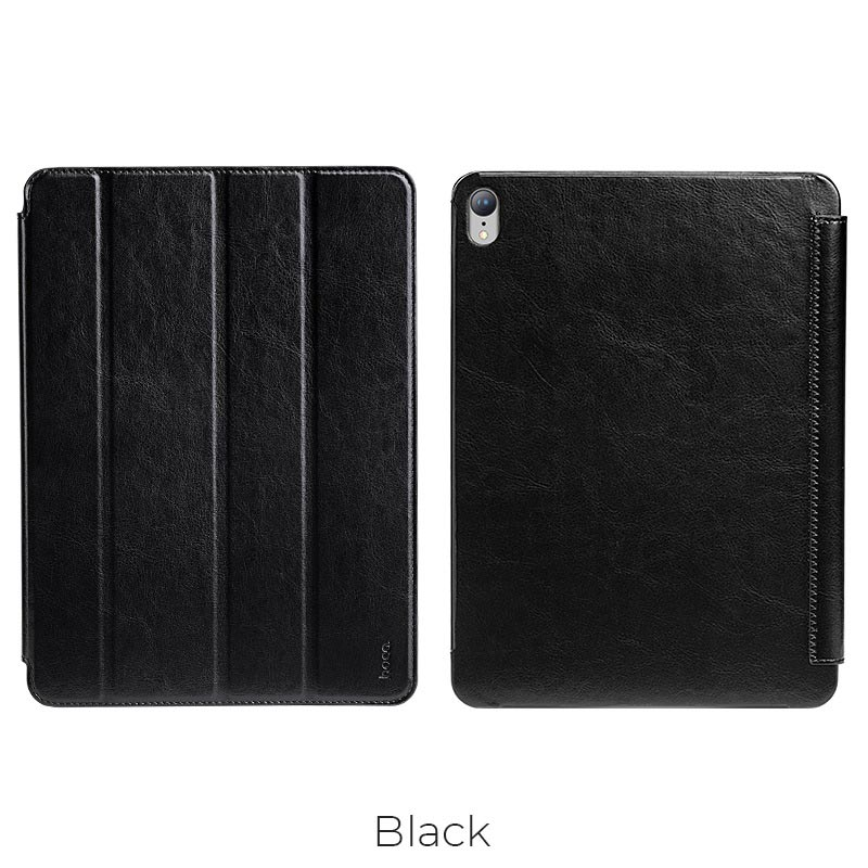 ipad pro retro leather case black