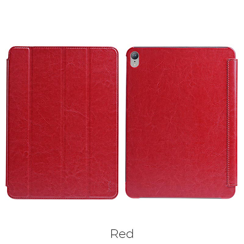 ipad pro retro leather case red